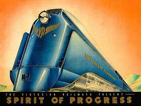 Spirit of Progress - Vintage Poster