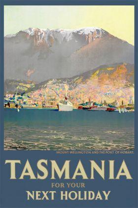 Tasmania, Hobart - Vintage Travel Poster