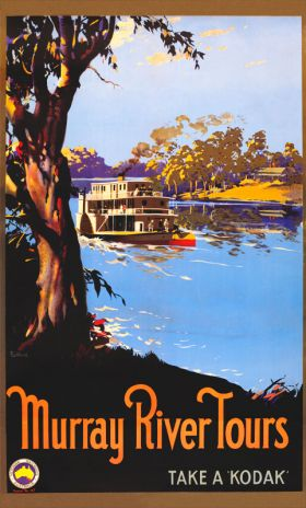 Murray River Tours - Vintage Travel Poster by James Northfield