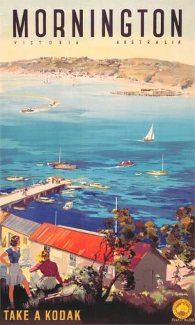 Mornington - Vintage Travel Poster by James Northfield