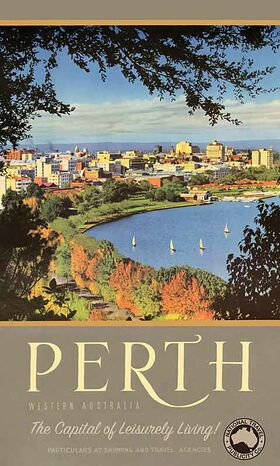 Perth,_Capital_of_Leisurely_Living - Vintage Travel Poster