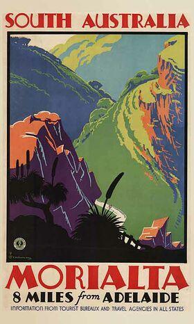 South_Australia,_Morialta Vintage poster