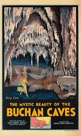 Buchan_Caves Vintage poster