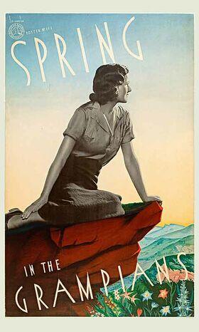 Spring_in_the_Grampians Vintage poster