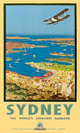 Sydney,_Loveliest_Harbour Vintage poster