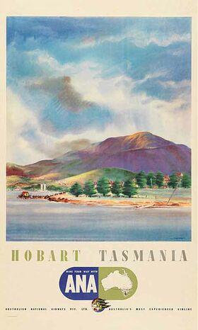 Hobart,_Tasmania Vintage poster