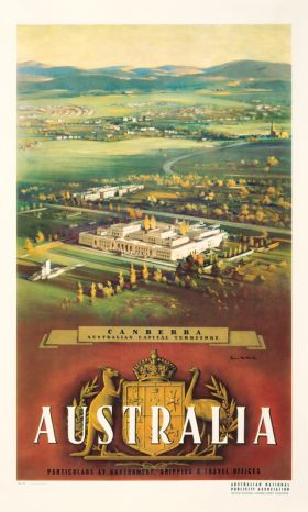 Canberra - Vintage Travel Poster by James Northfield
