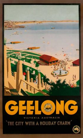 Geelong - Vintage Travel Poster by James Northfield