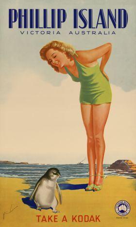 Phillip Island - Vintage Travel Poster