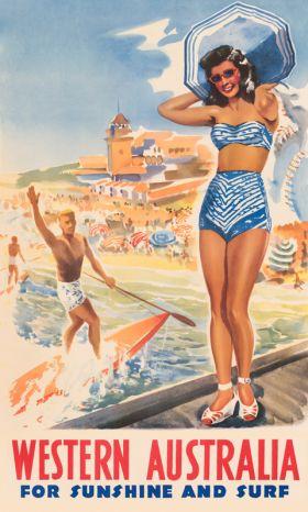 Western Australia - Vintage Travel Poster