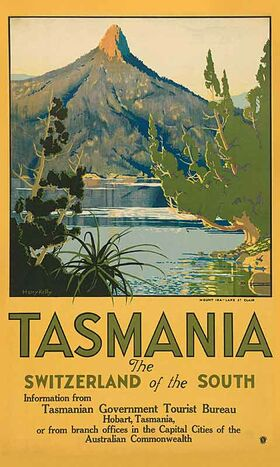 Tasmania,_Switzerland_of_the_South Vintage poster