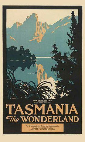 Tasmania_The_Wonderland Vintage poster