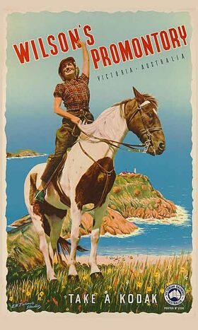 Wilson's_Promontory Vintage poster