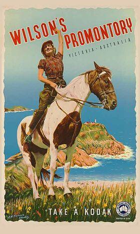 Wilson's_Promontory Vintage poster