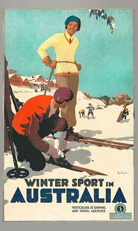 Winter_Sport_in_Australia Vintage poster