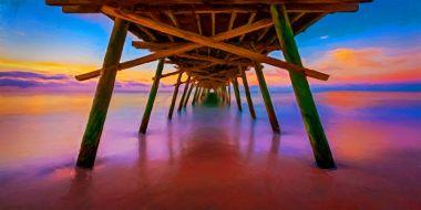 Pier Sunset - Artwork from Printism