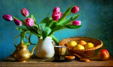 Tulips and Turquoise