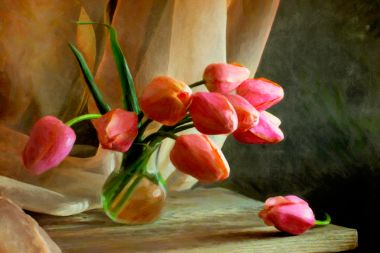 Composition with Tulips
