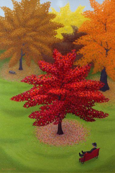 Oak Trees in Autumn