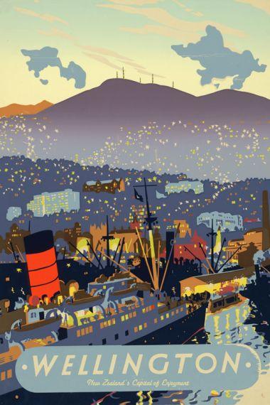 Wellington - Vintage Travel Poster