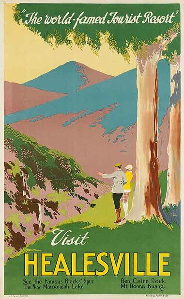 Visit_Healesville Vintage poster