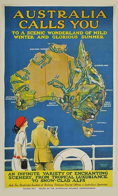 Australia_Calls_You Vintage poster