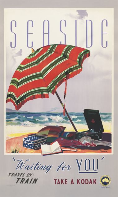 Seaside 'Waiting for You' - Vintage Travel Poster by James Northfield