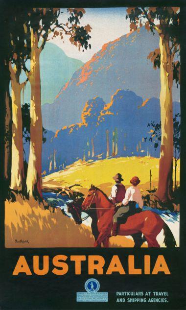 Australia - Vintage Travel Poster by James Northfield