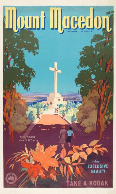Mount Macedon - Vintage Travel Poster by James Northfield