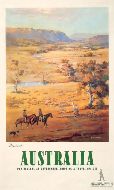 Pastoral - Vintage Travel Poster by James Northfield