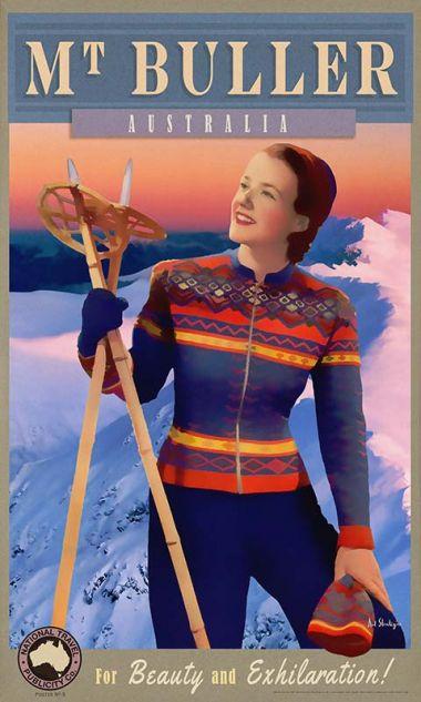 Mt Buller - Retro Travel Poster