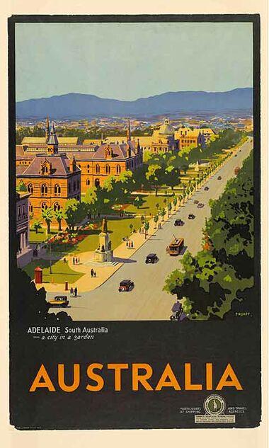 Australia, Adelaide poster art from Printism