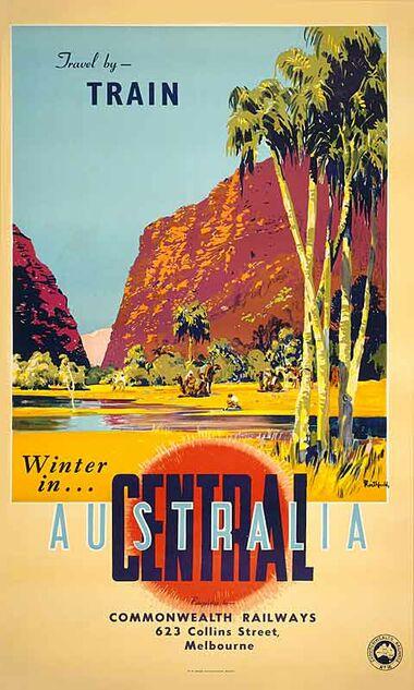 Central_Australia - Vintage Travel Poster by James Northfield