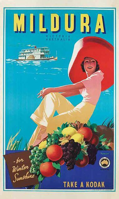 Mildura - Vintage Travel Poster by James Northfield