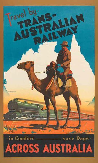 Trans-Australian_Railway Vintage poster