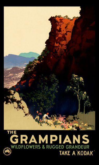 Grampians - Vintage Travel Poster by James Northfield