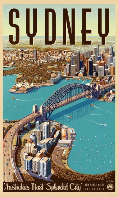 Sydney, Splendid City - Vintage Travel Poster by Vintage Portfolio