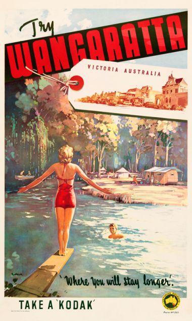 Wangaratta - Vintage Travel Poster by James Northfield