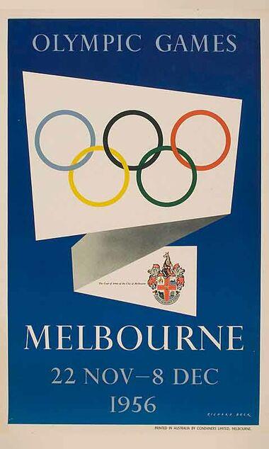 Olymipic_Games,_Melbourne_1956 Vintage poster