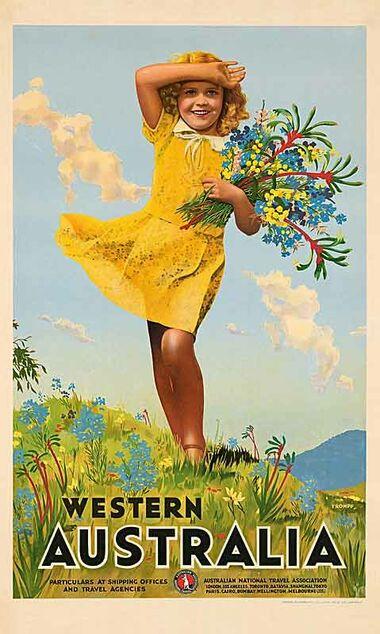 Western_Australia,_Wildflowers Vintage poster